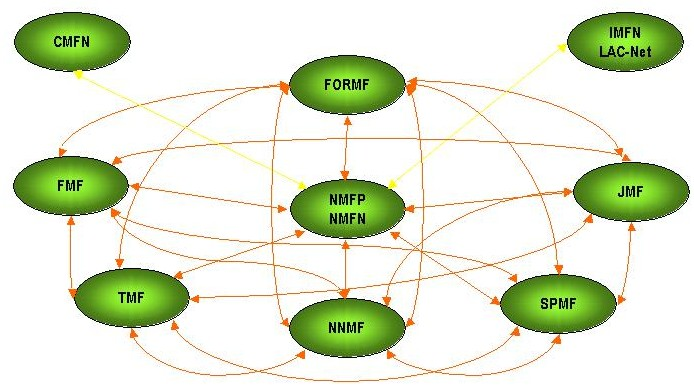 Figure 3. Organizational structure of the Argentine Model Forest Network.